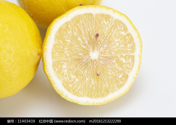 檸檬果肉照片圖片