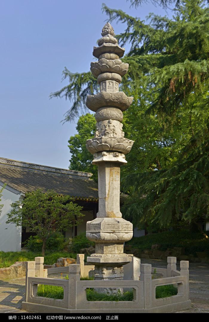 上海古猗園唐代尊勝陀羅尼經幢圖片