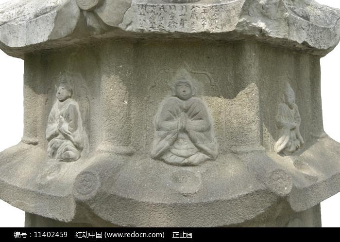 上海古猗園萬安塔局部浮雕圖片
