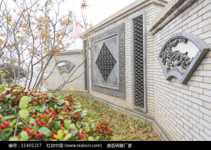 扇形建筑磚雕圖片
