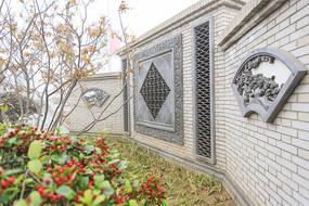 扇形建筑磚雕
