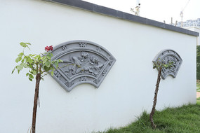 藝術扇形磚雕