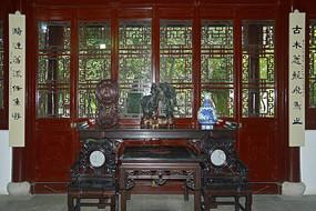 上海古猗园逸野堂室内内景