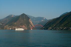 長江三峽之巫峽口風光
