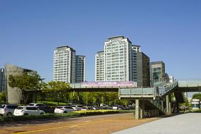 韓國水原市城市道路及人行天橋