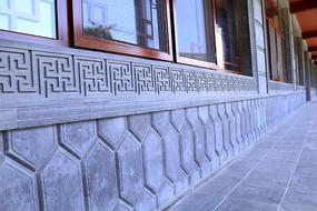 窗户砖石花纹