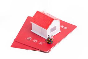 离婚证上有房子和两个人偶模型