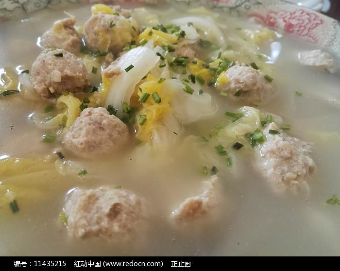 青岛胶州大白菜肉丸汤图片