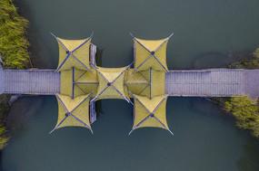 俯瞰扬州五亭桥图片