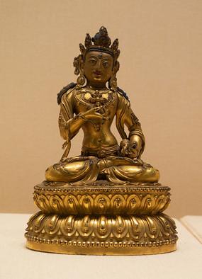 明代藏族金刚萨埵铜像