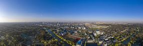 鸟瞰扬州市邗江区扬子江北路全景