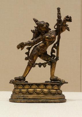 清代藏族那若空行母铜像