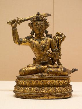 清代藏族文殊菩萨铜像