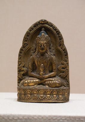 清代藏族无量寿佛铜像