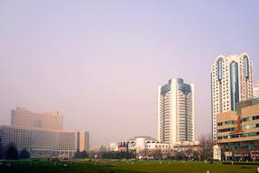 山东青岛五四广场地区城市风光