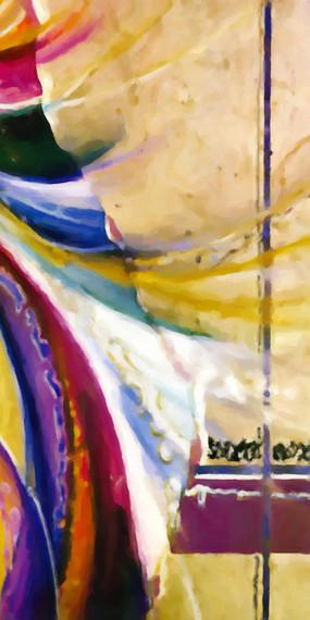 玄关抽象装饰画