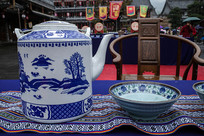 兰花茶壶茶碗