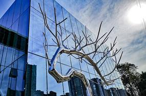 不锈钢树景观雕塑