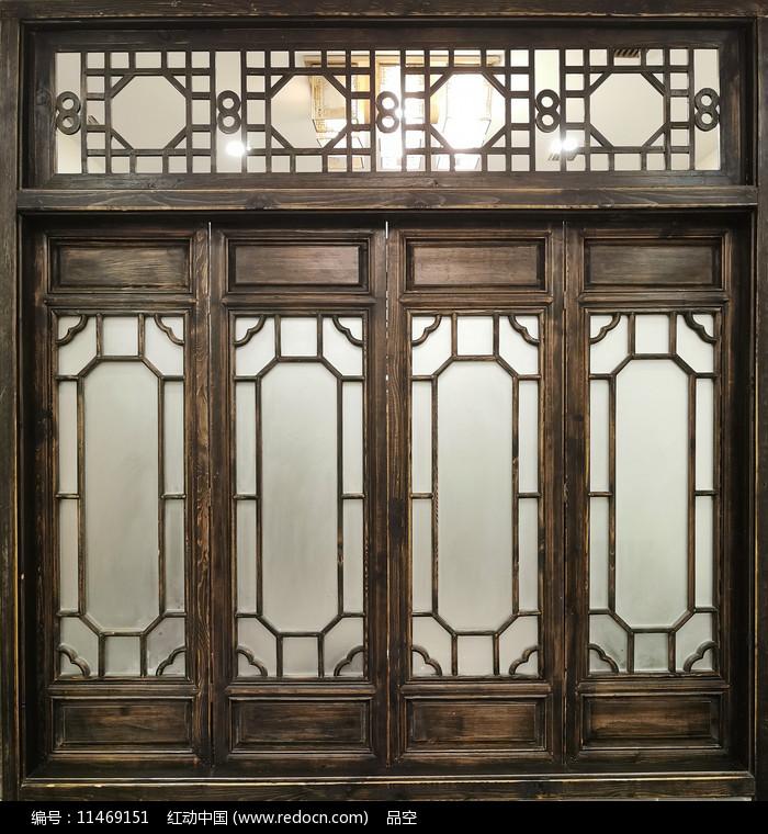 中式仿古窗户图片