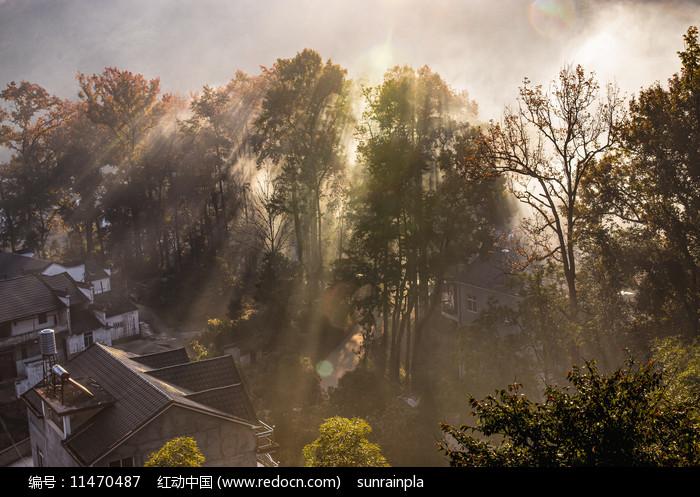 秋风疏影山村美图片图片