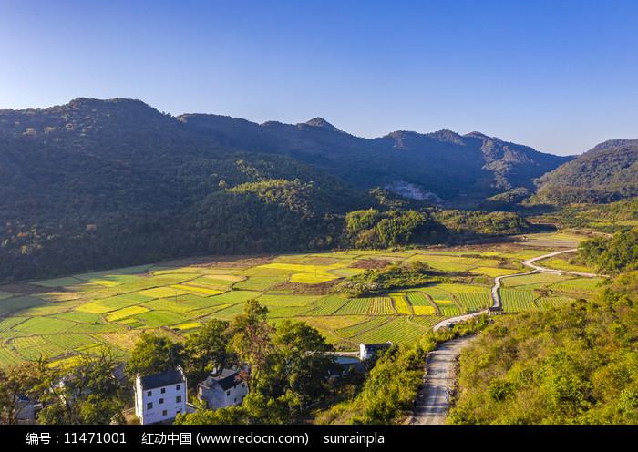 山野田园风光摄影图图片