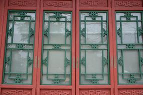 中式古老的窗户