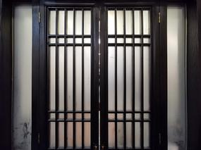 中式玻璃木窗