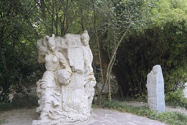 诗经关关雎鸠意境雕塑