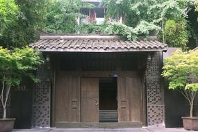 成都宽巷子庭院中式门头
