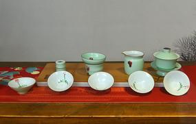 成都宽窄巷子-瓷器茶具