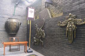 四川成都宽窄巷子饮酒文化墙