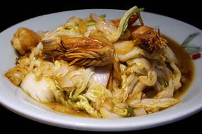 胶州大白菜炒对虾