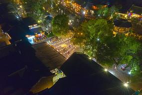 乌镇升莲广场夜色图片