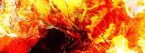 火焰抽象油画