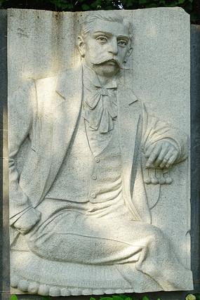 浮雕墙人物雕像