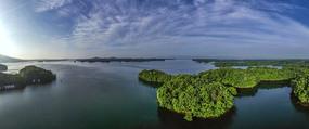 宽幅信阳南湾湖风光