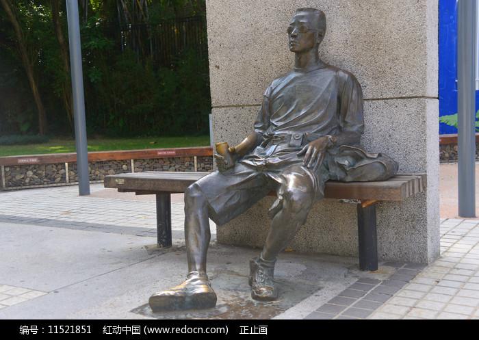 深南大道雕塑广场休息人物塑像图片
