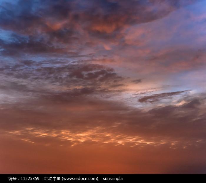火烧云背景素材图片