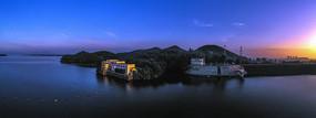 宽幅信阳南湾湖晨光美景