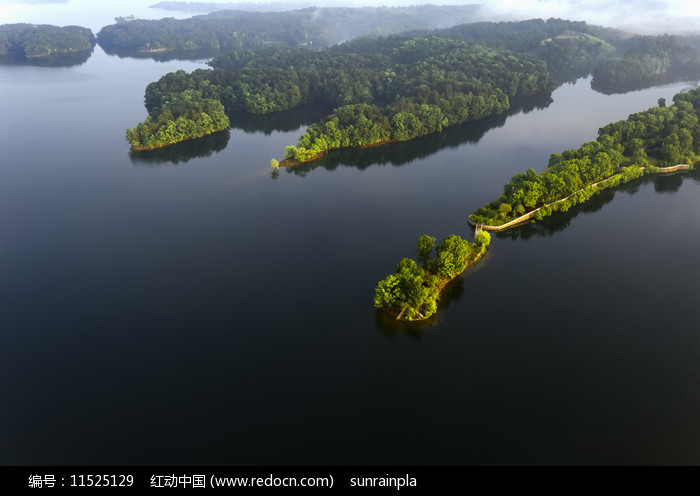 鸟瞰南湾湖风光图片