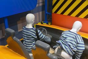 撞车保险带实验模拟