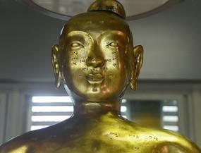 古代中医针灸铜人头部经络穴位