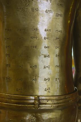 针灸铜人背部经络穴位