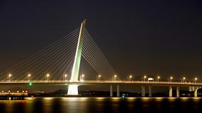 深港跨海大桥夜景深圳湾大桥