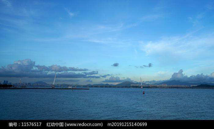 深圳湾大桥远景图片