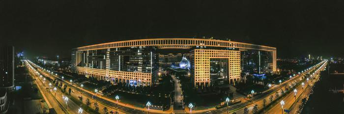 中建三局办公大楼夜色
