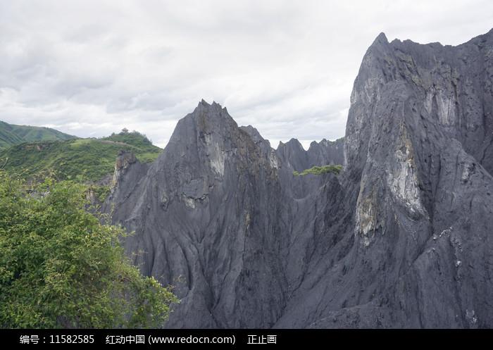 四川八美墨石公园地理风貌石林图片