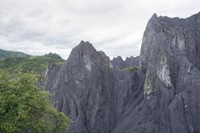 四川八美墨石公园地理风貌石林
