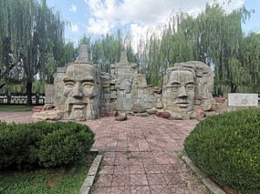 孔子陶行知雕塑