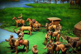 泥塑古代人贸易场景